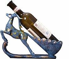 Kreatives Weinregal Europäisches Hirsch Ornamente