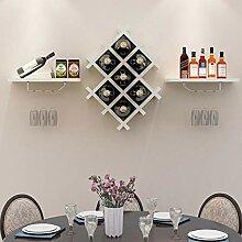 Kreatives Weinregal für Restaurants, Wandmontage,