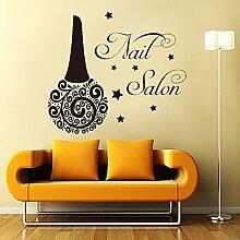 Kreativität Schönheit Nagel Salon Wandaufkleber