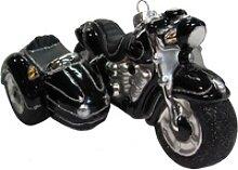 Krebs Glas Lauscha Christbaumschmuck Motorrad mit