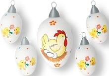 Krebs Glas Lauscha Osterei Henne mit Eiern und