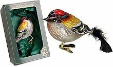 Krebs Glas Lauscha Vogelsortiment (Goldhähnchen