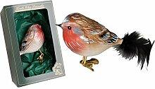 Krebs Glas Lauscha - Vogelsortiment (Rotkehlchen)