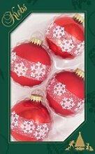 Krebs Glas Lauscha Weihnachtsbaumkugel Banddekor