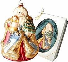 Krebs Glas Lauscha - Weihnachtsmann mit Kind, ca.
