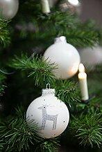 KREBS & SOHN 12er Set Weihnachtskugeln aus Glas -