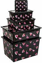 Kreher Boxen-Set Flamingo aus Kunststoff mit