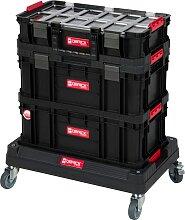 Kreher Werkzeugtrolley, (Set, 4 St.), 3 Boxen, 1