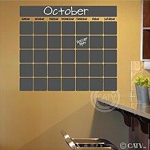 Kreidetafel Vinyl Kalender Wand Aufkleber