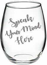 Kreieren Sie Ihr eigenes Glas, kundenspezifisch,