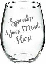 Kreieren Sie Ihr eigenes Glas, personalisiert,