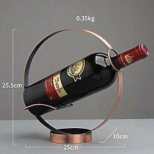 Kreis geformte Weinhalter Kreative Eisen