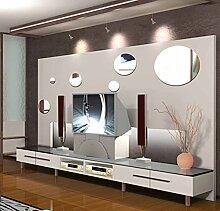Kreis Grün Abnehmbar Fest Spiegel Wandaufkleber Wohnzimmer Dekorativen