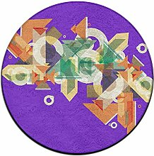 Kreis Shaggy Teppich Runde Form für Schlafzimmer Wohnzimmer Teppich/Fußmatte/Anti-Rutsch