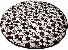 Kreis-Teppich Fitness Yoga-Matte Computer Stuhl Kissen Wohnzimmer Schlafzimmer Bedside Outing Teppich ( Farbe : C , größe : 120cm )