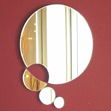 Kreise Kette Wandspiegel, plastik, 40 cm Diameter