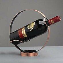 Kreisförmige Metallflaschenregal, Einzelflasche