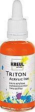 Kreul 17402 - Triton Acrylic Ink, Echtorange, 50