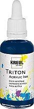 Kreul 17448 - Triton Acrylic Ink, Dunkelblau, 50
