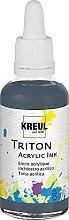 Kreul 17471 - Triton Acrylic Ink, Graphite, 50 ml