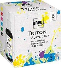 Kreul 17500 - Triton Acrylic Ink Set, 6 x 50 ml