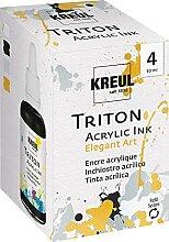 Kreul 17501 - Triton Acrylic Ink Set Elegant, 4 x