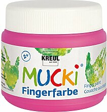 KREUL 23127 Mucki  Fingerfarbe Quietsch, 150 ml, pink