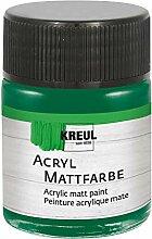 Kreul 75522 - Acryl Mattfarbe, grün im 50 ml