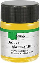 Kreul 75530 - Acryl Mattfarbe, gold im 50 ml Glas,