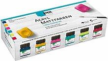 Kreul 75601 - Acryl Mattfarben im Color Living Set