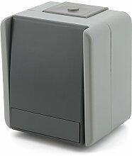 Kreuz Schalter grau IP44 10AX 250V SF70GY