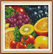 kreuzstich Kit,Set Fruit Crafts Rich