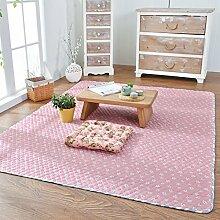 Kriechende matte baumwolle baby,North european style Spielen sie teppich kinder schlafzimmer decor wohnzimmer teppiche-anti-rutsch kriechen matratze tatami Erker-decke-Rosa 150x180cm(59x71inch)