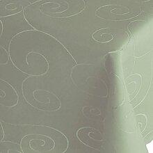 Kringel / Circle Tafeldecke - Eckig 160 x 220 cm Farbe wählbar - Hellgrün / Antikgrün - Damast Tischdecke