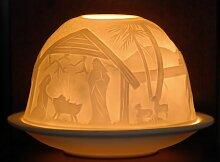 Krippe Teelichthalter Weihnachten Windlicht