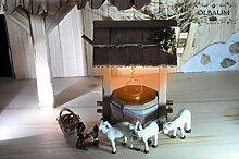 Krippenbeleuchtung Krippendeko - Holz-Brunnen,