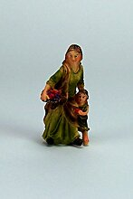 Krippenfigur Magd mit Kind Johanneskrippe, 8 cm,