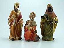 Krippenfiguren Hlg. drei Könige, Polyresin,