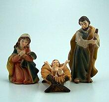 Krippenfiguren Set 3 Tlg. 11 cm. Hl. Familie. aus