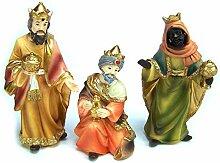 Krippenfiguren Set HL. 3 Könige. 12 cm, aus