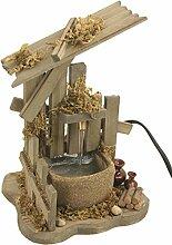Krippenzubehör, Brunnen mit Krügen inkl. Pumpe