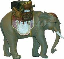 Krippenzubehör Elefant mit Gepäck Höhe 15,4cm