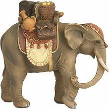 Krippenzubehör, Elefant mit Gepäck Höhe ca.