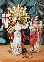 Krippenzubehör mit LED, Auferstehung + Jesus als