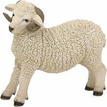 Krippenzubehör, Schaf stehend, mit Hörnern Höhe