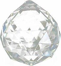 Kristall Anhaenger - TOOGOO (R) 10 Stueck Kristall Glas Lampe Leuchter Prisms Party Dekor Haengender Anhaenger 40 mm