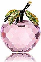 Kristall-Apfel-Figur, Briefbeschwerer,