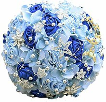 Kristall Blau Hochzeit Blumen Brautstrauß