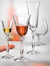 Kristall Bohemia Gläser - Angela - 6er Set (Weinglas 6 x 250 ml)