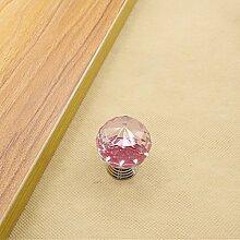 Kristall Glas Moebelgriffe sphaerisch Moebelknauf Moebelknopf Schrauben Moebelgriffe Schrankgriff pink 40mm